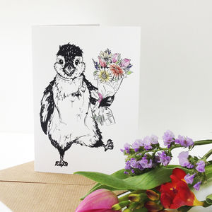 Penguin And Petals Mother's Day Card - shop by category