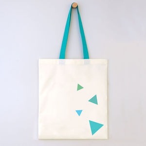 Cotton Triangles Bag With Colour Straps - bags & purses