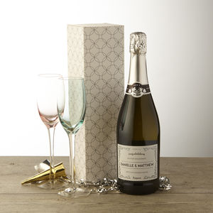 Personalised Engagement Prosecco - engagement gifts