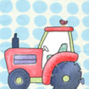 Tractor Children's Personalised Print