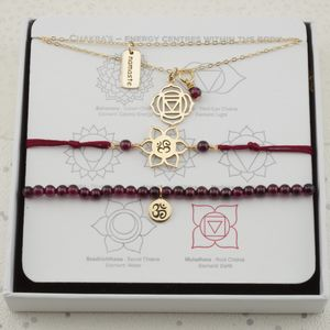 Root Chakra Jewellery Set In Gold Or Silver