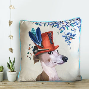 Greyhound Cushion, The Milliners Dogs - cushions