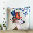 Greyhound Cushion, The Milliners Dogs