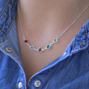 Family Birthstone Link Necklace - necklaces & pendants