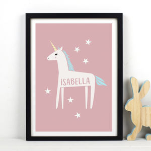 Personalised Unicorn Print - posters & prints