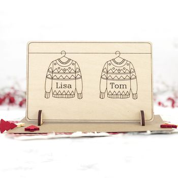 Personalised Christmas Card For Couple