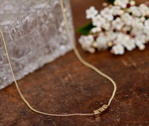 Nine Carat Gold Cube Necklace