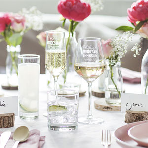 Personalised Bride Wedding Glass