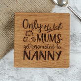 Personalised Oak Grandparent Coaster - father's day