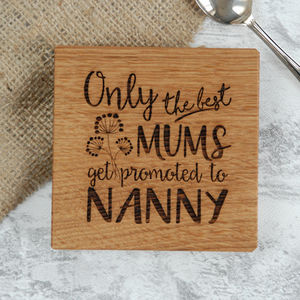 Personalised Oak Grandparent Coaster - personalised mother's day gifts