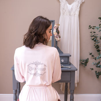 Personalised Vintage Style Wedding Dressing Gown