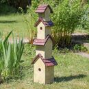 Vintage Tall Wooden Garden Bird Hotel