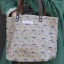 Oyster Catcher Oilcloth And Leather Tote Bag