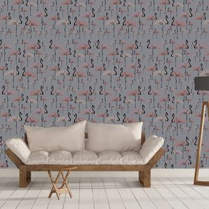 Flamingo Party Fsc Certified Wallpaper One Roll Left - home decorating