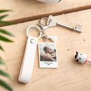 Personalised New Baby Photograph Keyring