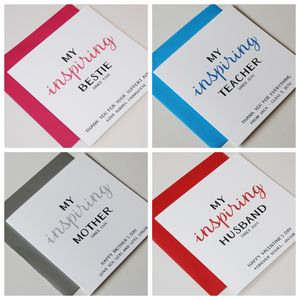 Personalised Occasions 'My Inspiring…' Greeting Card - father's day cards