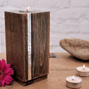 Beech Wood Personalised Tea Light Holder