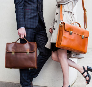 Leather Work Bag 'Waring' - bags & cases