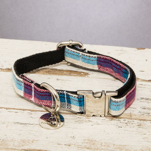 The Marple Red Checked Dog Collar