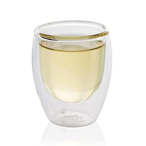 Small Double Wall Glass Cup 80ml