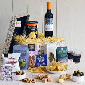 Red Wine Delight Hamper - gifts for him