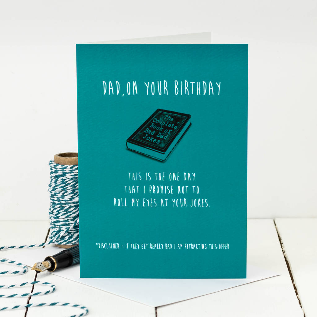 Birthday card for dad bad dad jokes by coulson macleod birthday card for dad bad dad jokes kristyandbryce Image collections