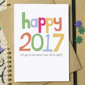 Funny 'Happy 2017' New Year Card - cards