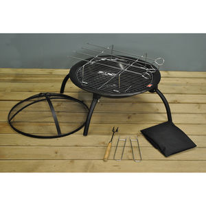 Fire Pit Barbecue Portable With Carry Bag - fire pits & outdoor heating