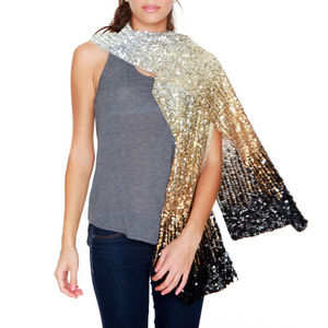 Womens Cocktail Hour Shaded Sequin Scarf - scarves