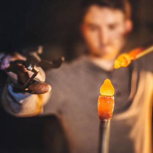 One Day Glassblowing Lesson For One - for him