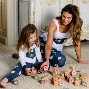 Bear Hugs Mama Matching Family Pyjamas With Vest Top - mother & child sets
