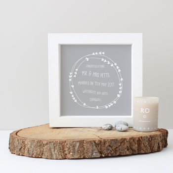 Personalised Typography Wedding Gift