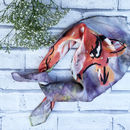Fox Print Square Silk Scarf