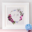 Personalised Initials Floral Wreath Wedding Print