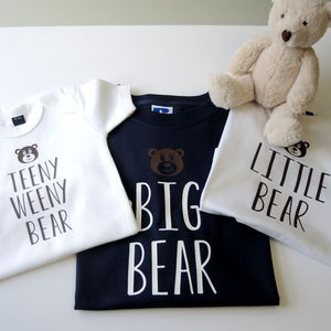 Personalised Father, Son And Baby Bear T Shirts