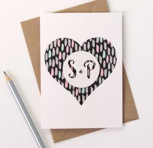 Personalised Papercut Love Heart Card