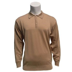 Men's Merino Wool Polo Collar Jumper - jumpers & cardigans