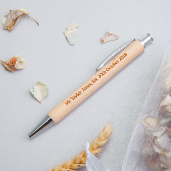 Engraved Wooden Personalised Gift Pens For Him