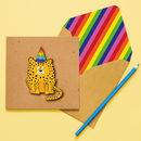 Handmade Birthday Cheetah Personalised Card