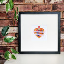 Heart And Dagger Tattoo Wedding Print