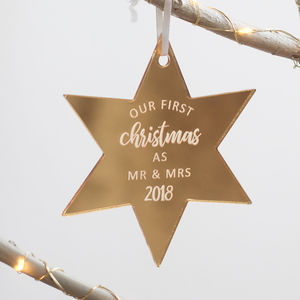 Personalised Family Star Christmas Ornament