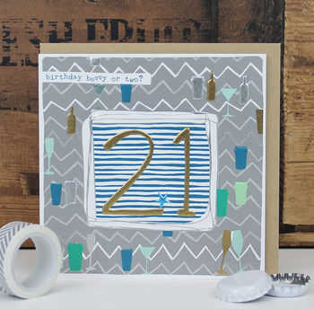 Male Or Female 21st Birthday Card