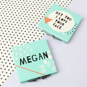 Personalised 'I Love Your Face' Compact Mirror - whatsnew