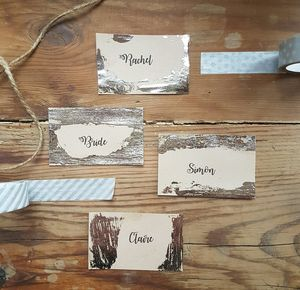 Handmade Silver Place Cards