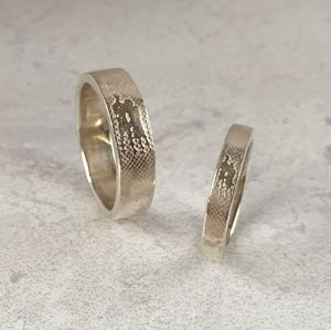 Personalised Soulmates Silhouette Wedding Rings - rings