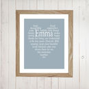 Personalised Thank You Bridesmaid Print