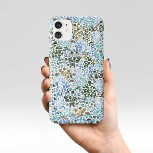 Giant Sparrows Speckled Watercolor Blue Phone Case