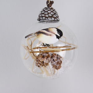 Box Of Three Glass Bird Christmas Tree Baubles - summer sale