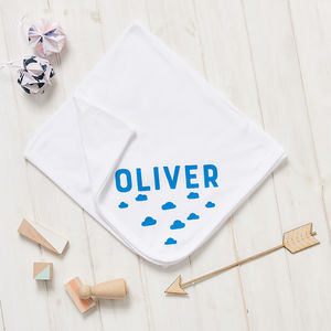 Personalised New Baby Scandi Cloud Blanket - baby's room