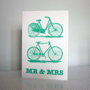 Bicycle Wedding Card